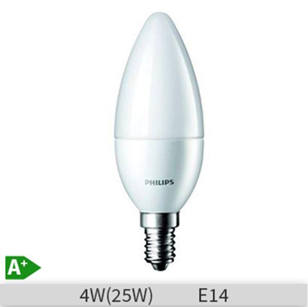 Bec Led Philips, lumanare, 4W, E14, 230V, B35,  2700k, lumina calda, FR ND 4 http://www.etbm.ro/tag/149/becuri-led-e14