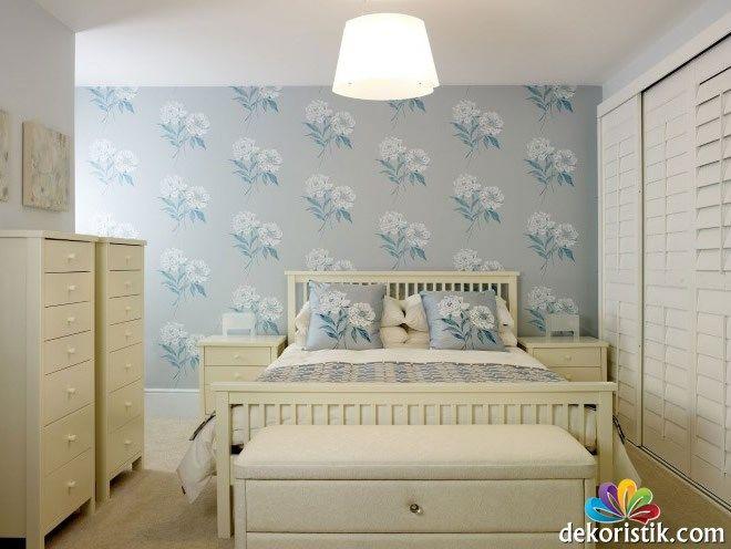 Mavi Yatak Odası Duvar Kağıdı