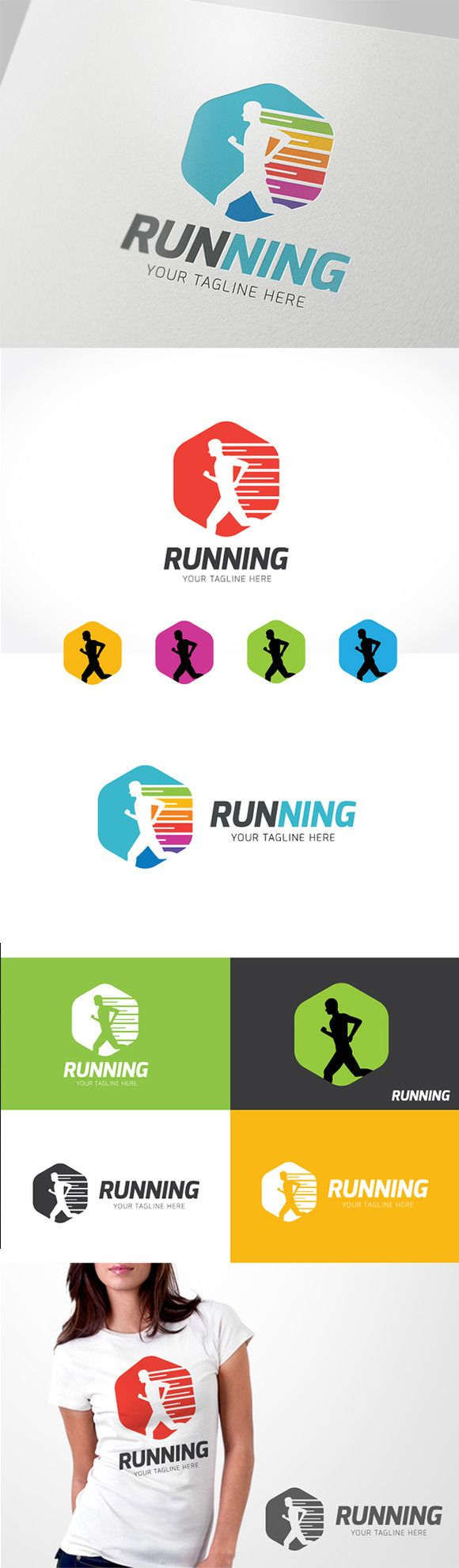 Olympic rings logo rio 2016 olympics logo designed by fred gelli - Run Logo Templates Logo Template Features 100 Scalable Vector Files Everything Is Editable Everything I By Super Pig Shop