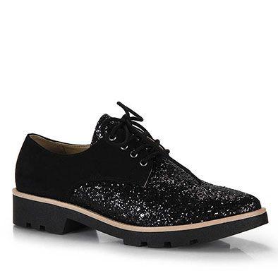 Sapato Oxford Feminino Brenda Lee - Preto