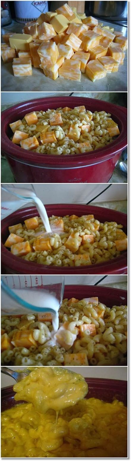 The Cheesiest Crock Pot Mac and Cheese.  The title is no joke it is way too much cheese that the noddles get lost in this I did not like and will not make again.-WJO