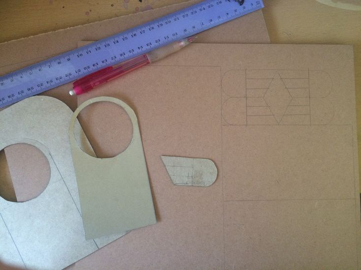 Step 1 - I drew up templates for all the parts of the bird house and traced them onto 3mm mdf