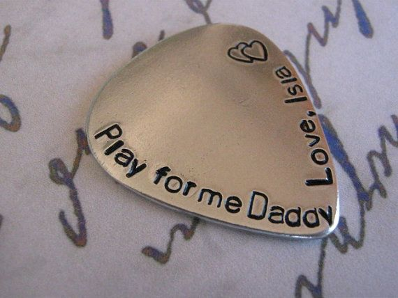 Father's Day, Guitar Pick, Personalized guitar pick, Mens Gifts, Anniversary gifts for men, Graduation, Aluminum, Brass on Etsy, $10.00