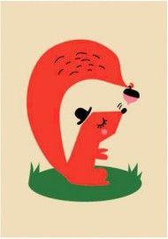 Darling & Clementine `Kaart Eekhoorn`