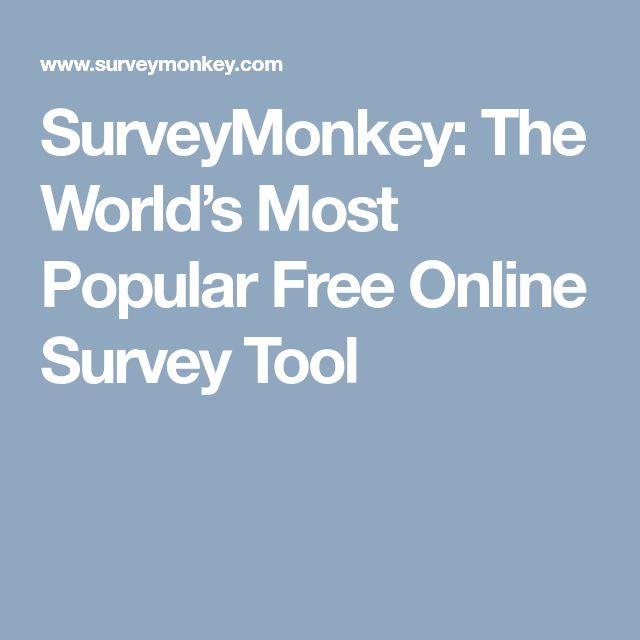 SurveyMonkey: The World's Most Popular Free Online Survey Tool