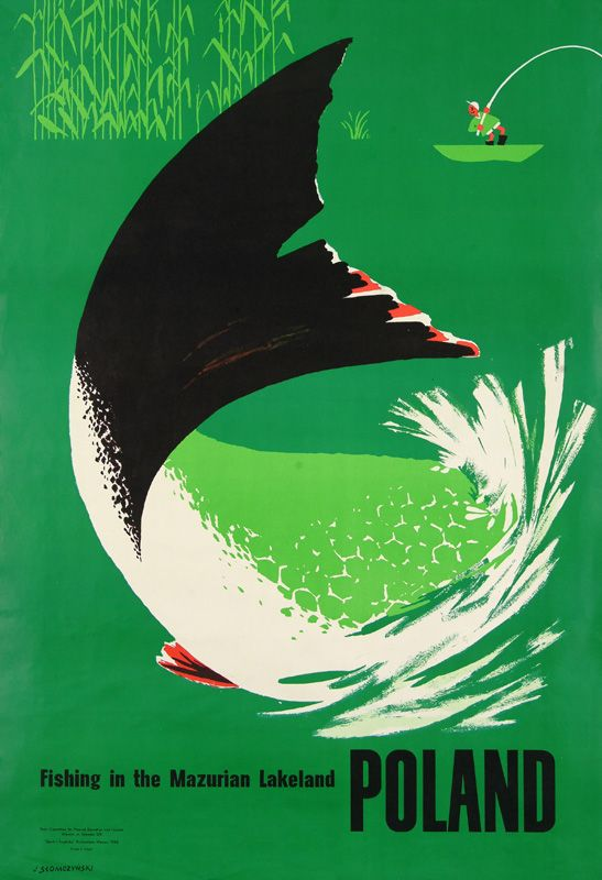 Poster by Jan Słomczyński, 1962 from the exhibition Polish Travel Posters at the Poster Museum in Wilanów, 2007