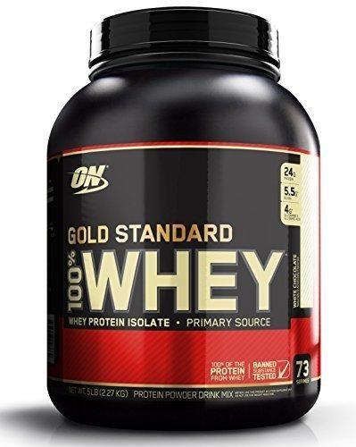 Optimum Nutrition Gold Standard 100% Whey Protein Powder White Chocolate 5 Pound