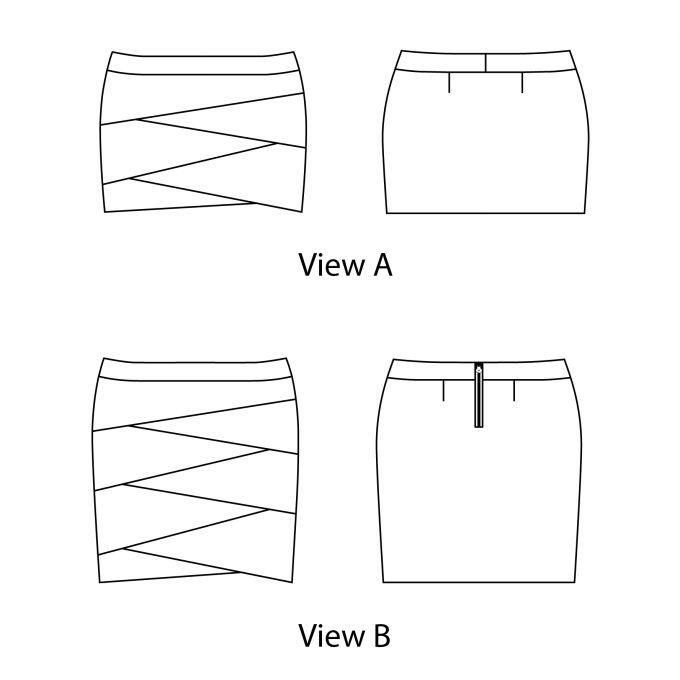 Jade Skirt Line drawing