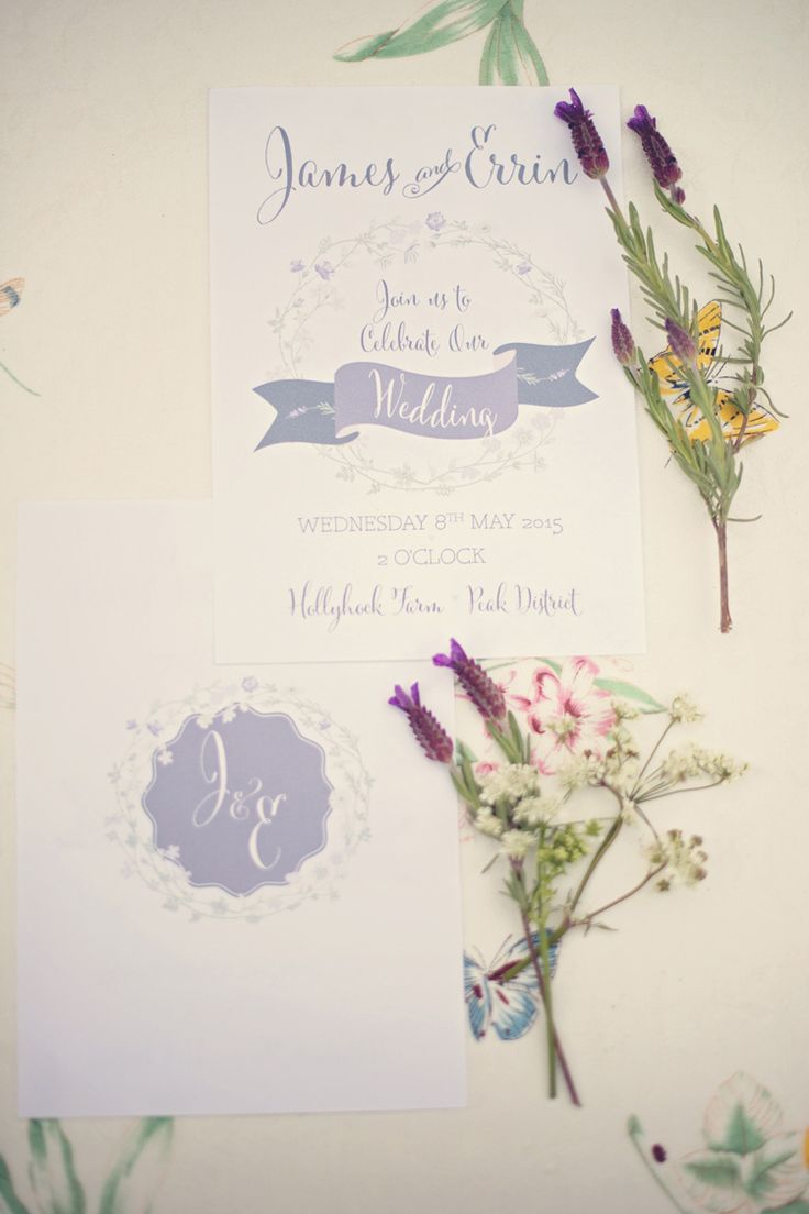 Stationery Invitations Beautiful British Flower Peak District Moors Wedding Ideas http://www.sarahbrabbin.co.uk/