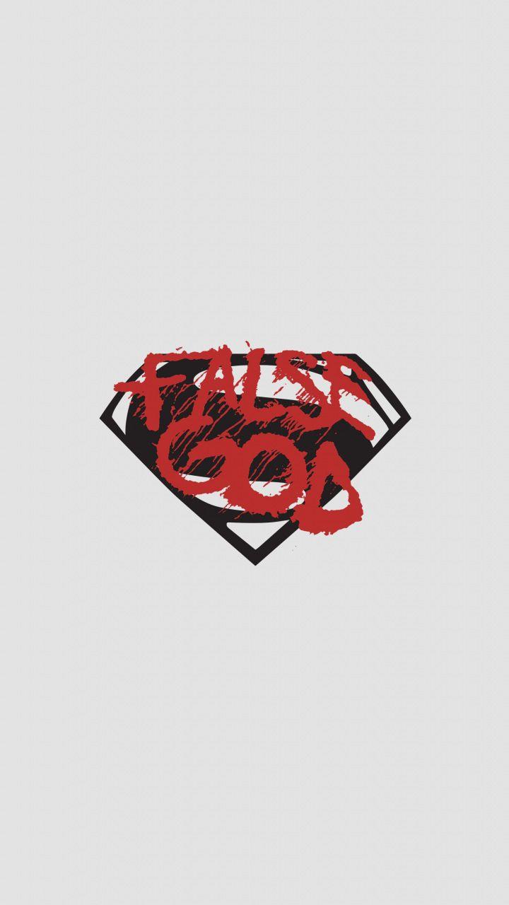 False God Batman Vs Superman Minimal Logo 720x1280 Wallpaper Batman Vs Superman Batman Vs Superman Logo Batman Vs