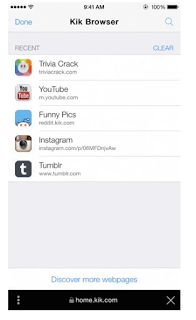 Avance en la tecnología: Kik Messenger Ahora cuenta con un navegador Web En...