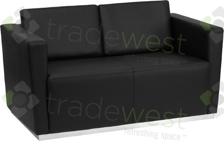 ENERGi - 809-2 Loveseat - Black Leather