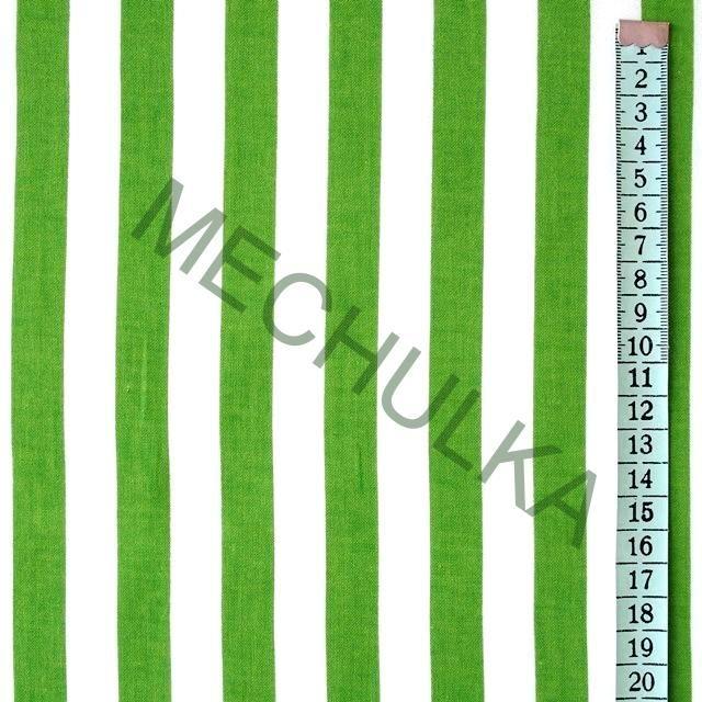 Zelené pruhy / proužek - látka - pruhovaná metráž - bavlna