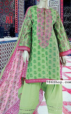 Mint Green Lawn Suit | Buy Junaid Jamshed Eid Collection Pakistani Dresses and Clothing online in USA, UK