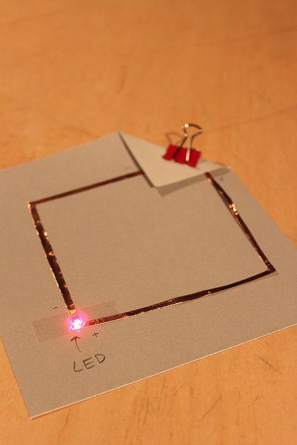 The Exploratorium's paper circuit workshop from their Tinkering Studio Blog