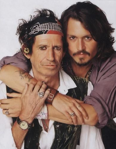 Johnny Depp and Keith Richards wallpaper possibly containing a headshot in The Johnny Depp Club