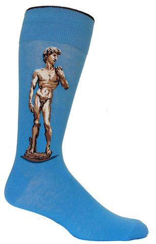 famous art piece David by Michaelangelo art socks