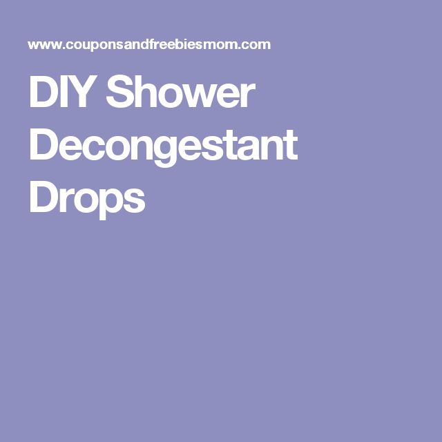 DIY Shower Decongestant Drops