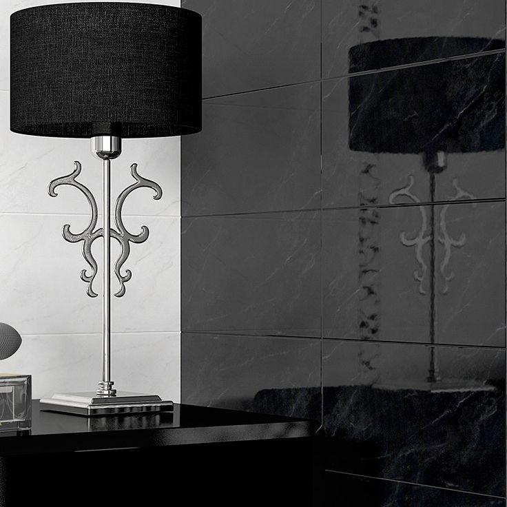 Black Marquina Negro Ceramic Tiles Black Amp White Tiles