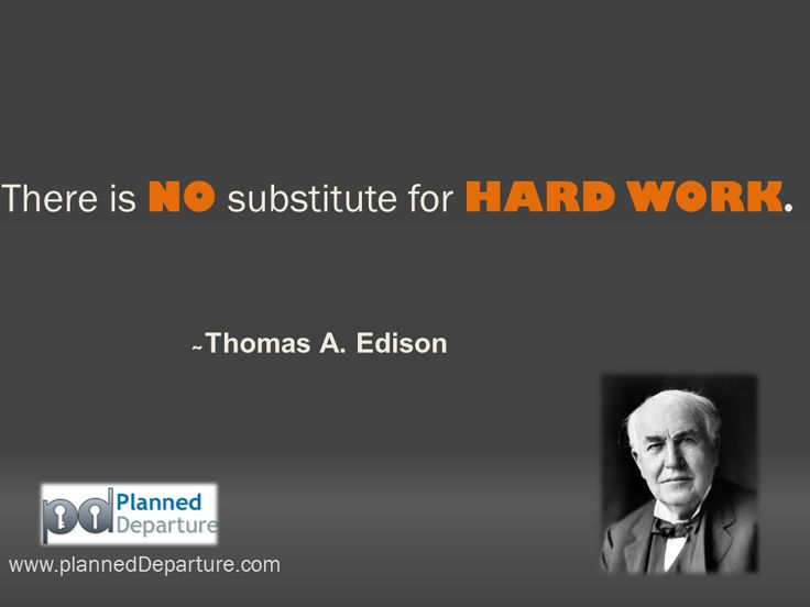 No substitute for hard work essay