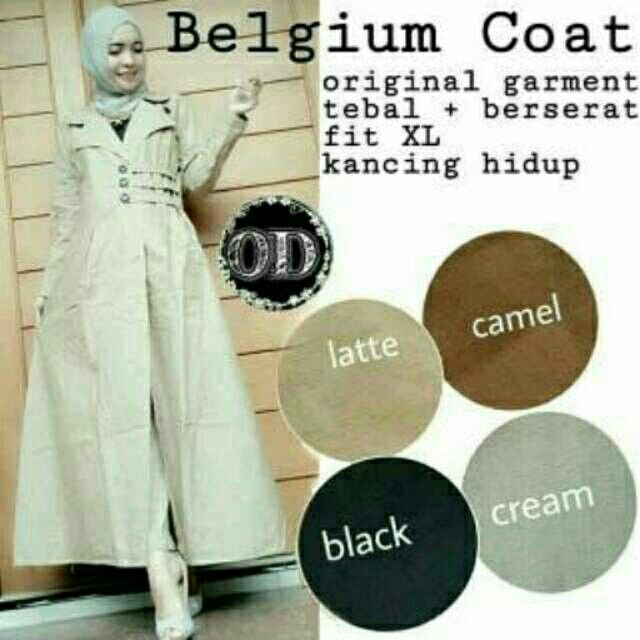 @58000 belgium coat bahan katun uk all size fit L
