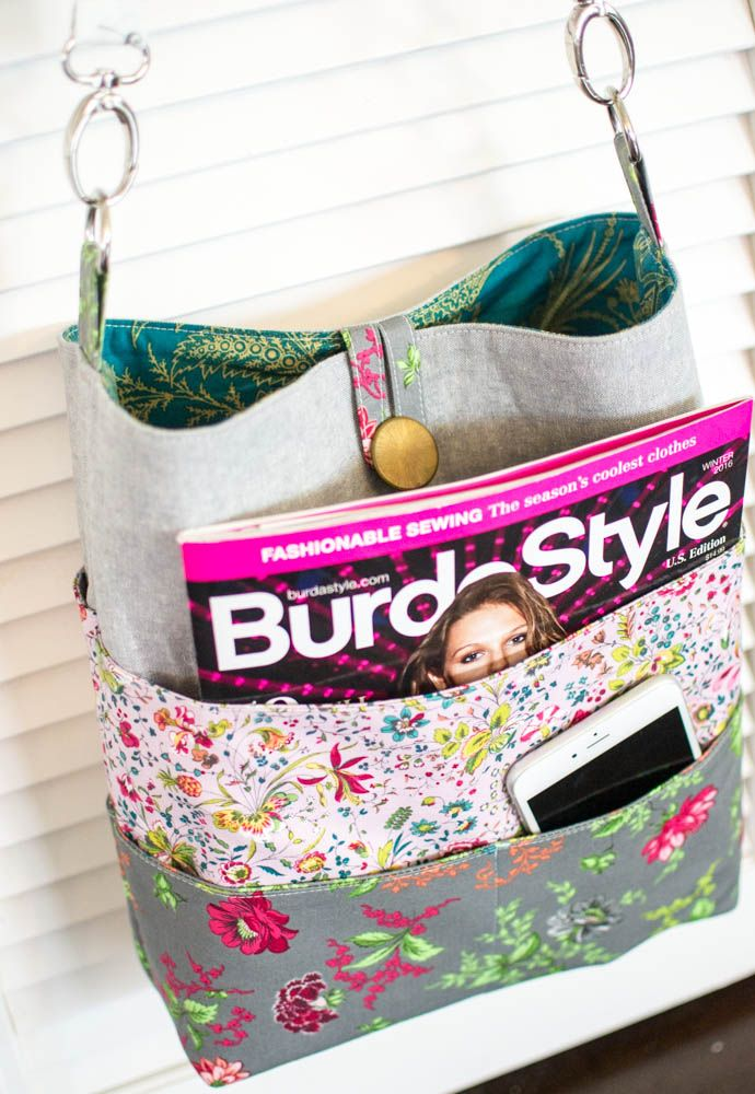 Pinterest UnTutorial Solved... my Tote with Many Pockets! — SewCanShe   Free Daily Sewing Tutorials