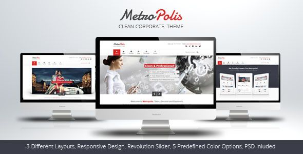 Metropolis is simple and clean HTML5 theme with subtle effects, perfect for professional business website. It has some creative elements that helps attracting visitor eye and along with numerous portfolio options it can be easily edited to become fully creative portfolio website.