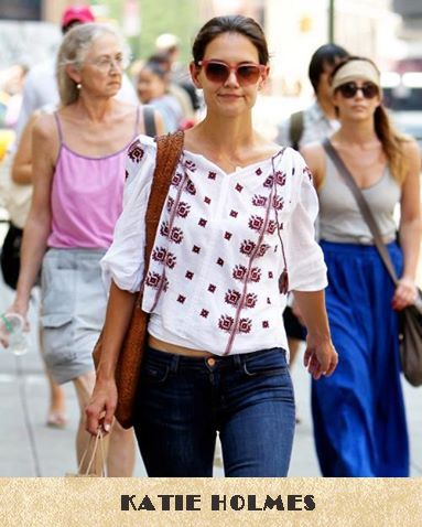 Katie Holmes loves traditional Romanian blouse