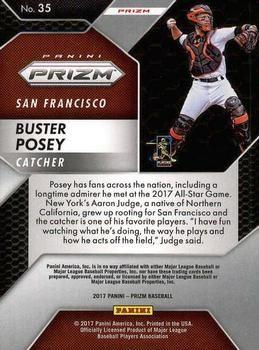 2017 Panini Chronicles - Prizm #35 Buster Posey Back