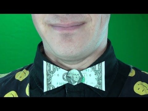 Origami BowTies (x2) with a US dollar bill - YouTube