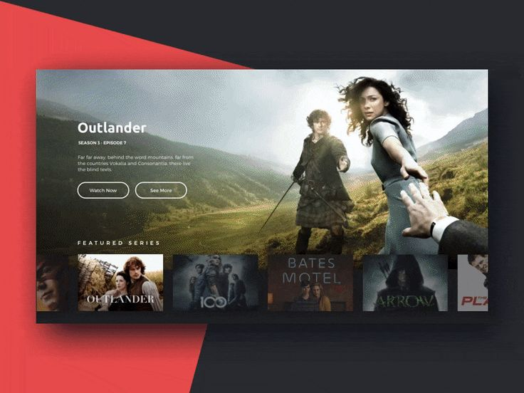Quite similar to Netflix, but I think the use of nav with the hero image is cool