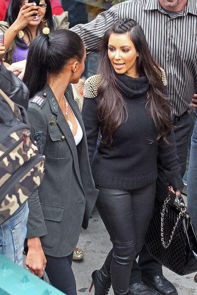 Kim Kardashian - Kim Kardashian and Ciara Leave Cosmopolitan Cafe in Tribeca