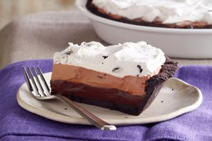 OREO Triple Layer Chocolate Pie recipe: Oreo Pudding, Chocolate Pies, Chocolates Pies Recipes, Triple Layered Chocolate, Triple Laying Chocolates, Chocolate Pie Recipes, Oreo Triple Layered, Oreo Triple Laying, Layered Chocolates