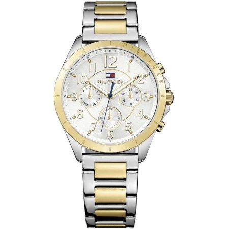 Tommy Hilfiger Two-Tone Ladies Watch 1781607, Size: mm, Silver