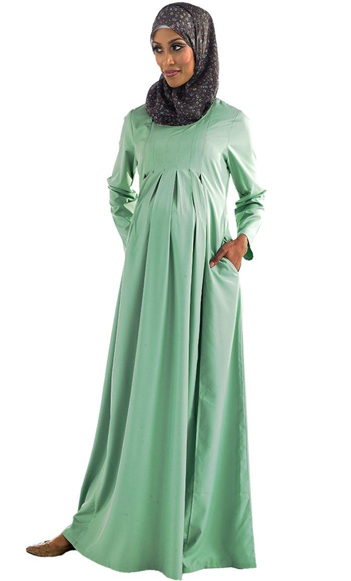 Lara Pleated Maternity Abaya Price: $29.99 Sku ID : AJM8
