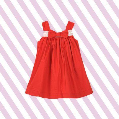 Pumpkin Patch Broiderie Trim Dress - 100% cotton, available in sizes 0-3m to 18-24m www.pumpkinpatchkids.com