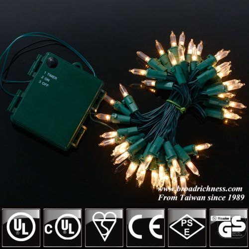 50CT Battery operated T5 Mini LED String Lights Mini String Lights