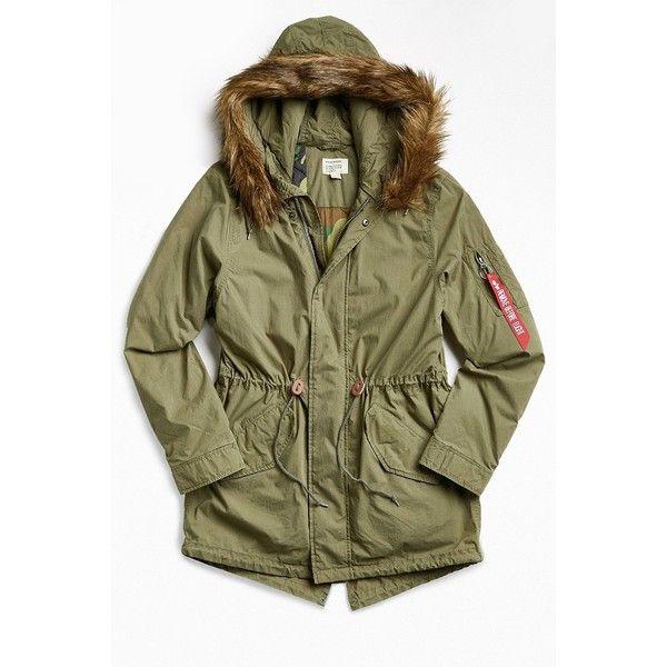 Alpha Industries J-4 Fishtail Fur Parka Jacket ($179) ❤ liked on Polyvore - Best 25+ Parka Jacket Men Ideas Only On Pinterest Pocket, Mens
