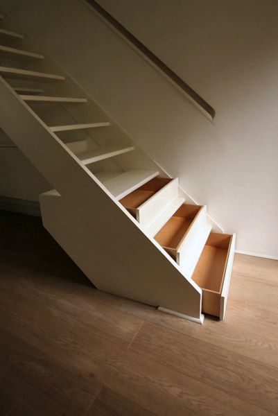 Stair #storage / Drawers great for seasonal storage.