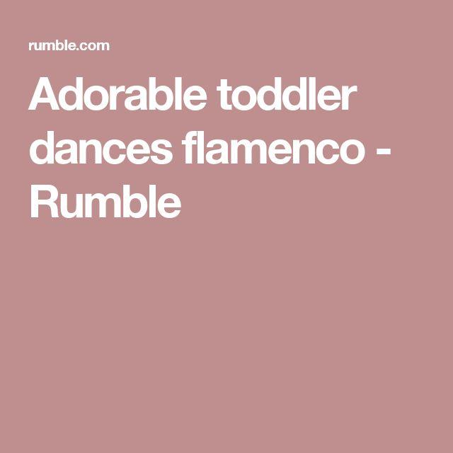 Adorable toddler dances flamenco - Rumble