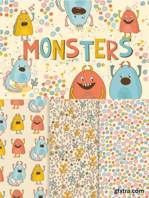 CM - Cute Little Monsters(vector,jpg,png) 640055