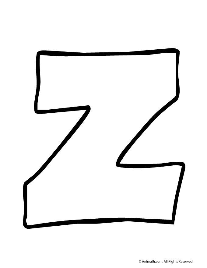 Printable Bubble Letters Letter Z Craft Jr