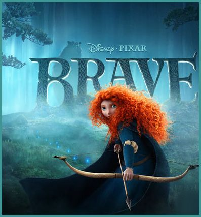 Disney Pixar BRAVE Movie starring Merida on home video 11/13/12