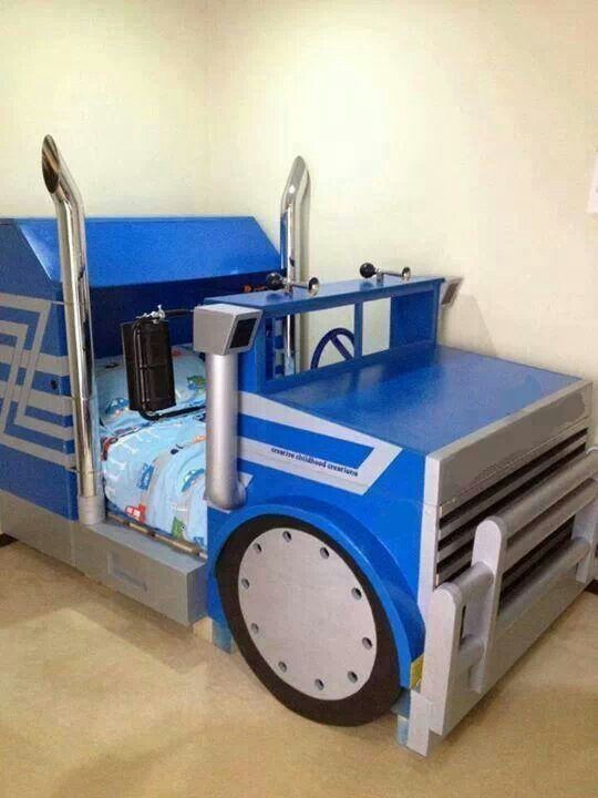 Semi truck kids bed kids beds pinterest my boys be cool and awesome - Toddler beds for boys ...