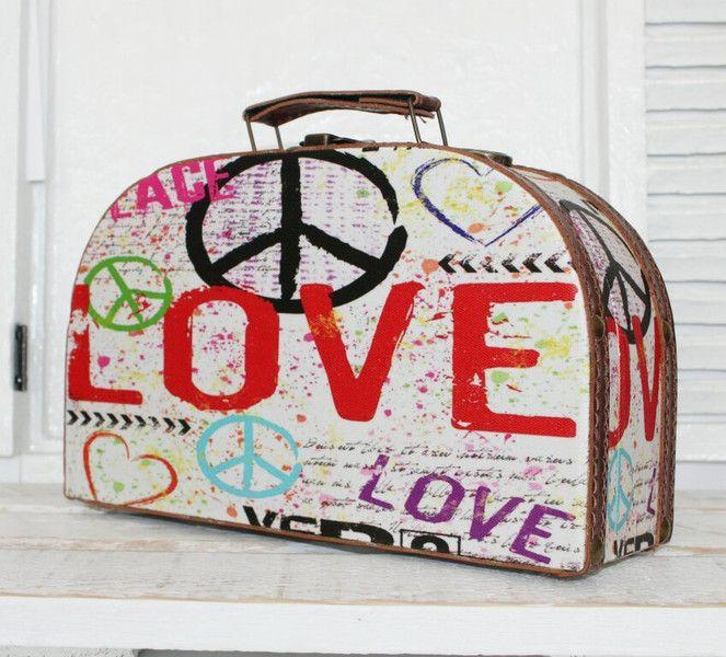 Nostalgischer Koffer, klein, Holzkoffer, Retro von RaiKa Country House auf DaWanda.com