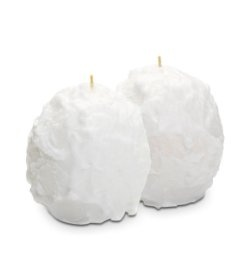 white snowball candles, set of two, by partylite 25% off thru 12/17/12 - Q53123