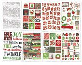 Sticker pack, Christmas Stickers, Xmas Stickers, Sticker sheets, Planner stickers, Word stickers, Word label, Santa, Very Merry, Collection