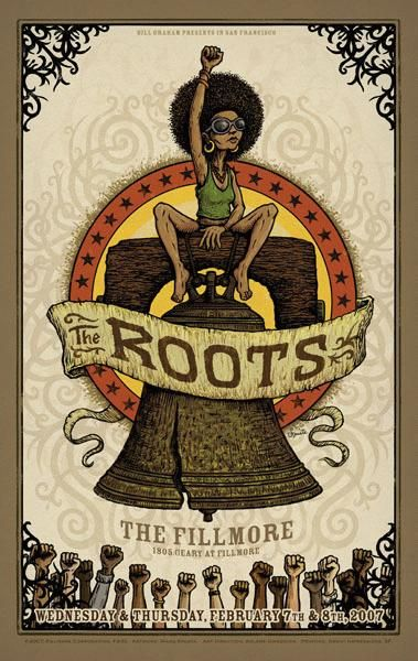 the roots music gig posters | ... Music Posters - Memorabilia, Concert Poster, Silkscreen, Poster Art