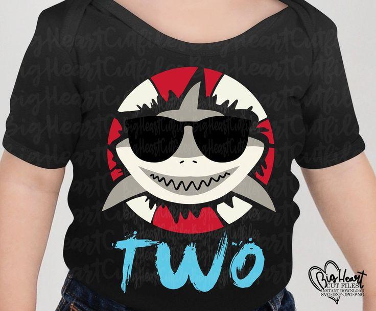 baby shark 2nd birthday shirt boy