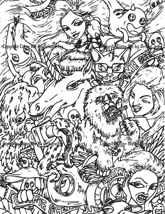 crazy creatures coloring pages - photo#46